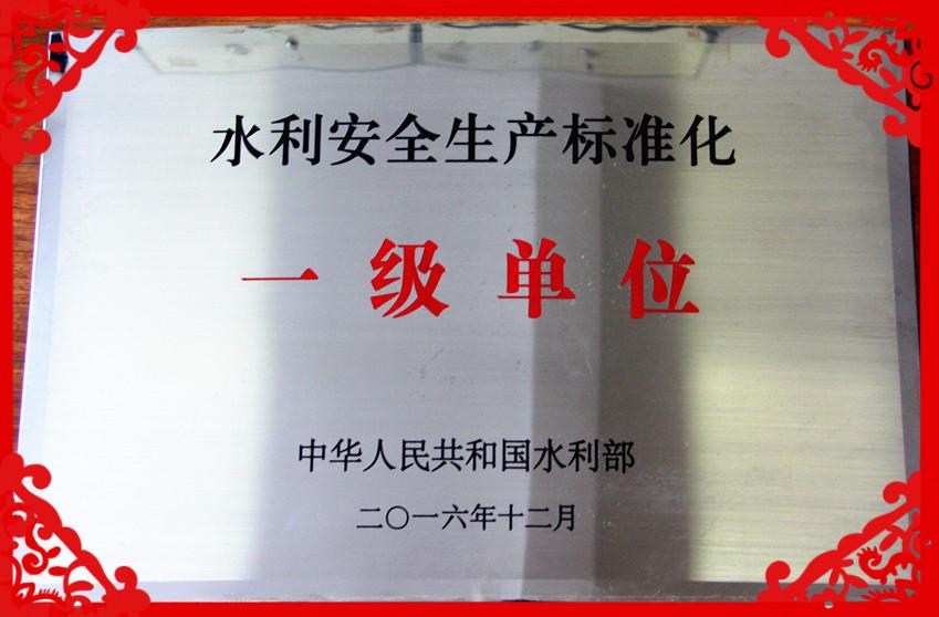 """我局喜获水利部""""水利安全生产标准化一级单位""""称号"""