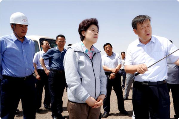 自治区主席咸辉等领导一行到由我局承建的同心县下马关水库调研