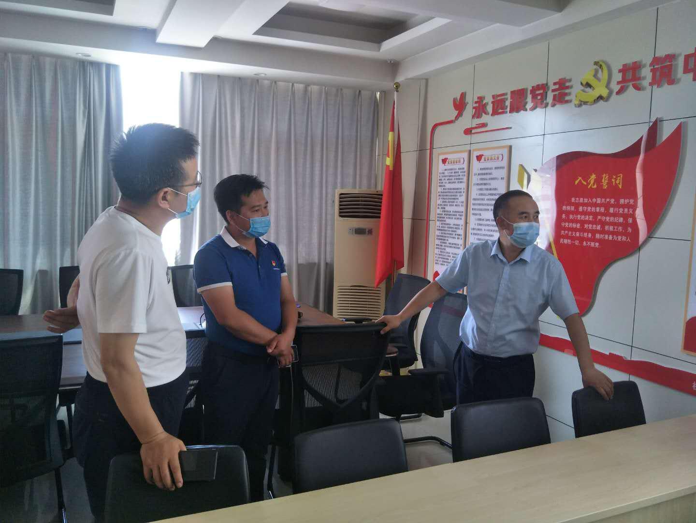 宁国运集团党委副书记、工会主席刘汉立到宁工局公司基层党支部调研