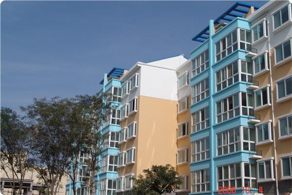 银川昌源小区商住楼,建筑面积35000m2,264套住宅,47套营业房。2007年建成.JPG