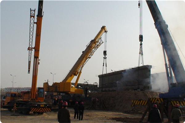 唐徕渠跨北塔湖渡槽工程